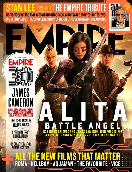 卡梅隆携新片《阿丽塔》登帝国杂志30周年封面