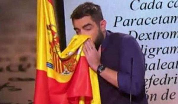 西班牙喜剧演员因用国旗擦鼻涕被告上法庭
