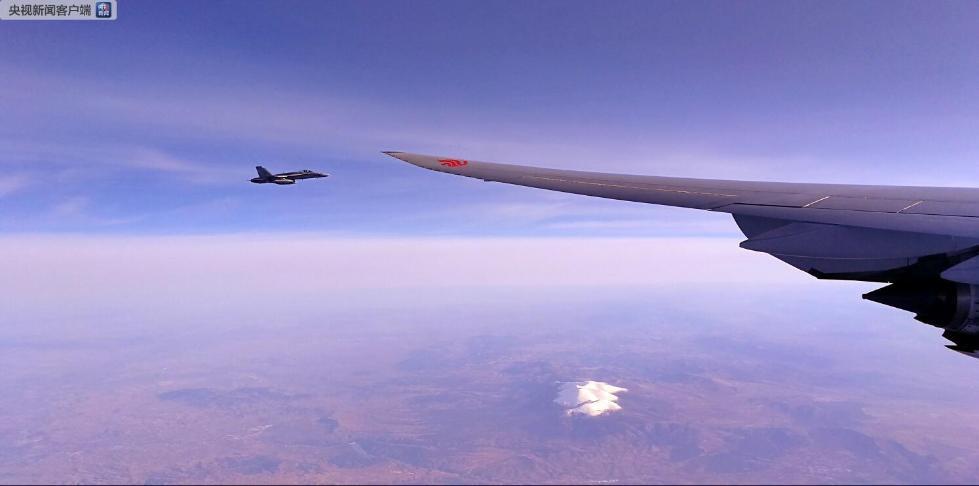【独家V观】西班牙空军战机为习近平专机护航