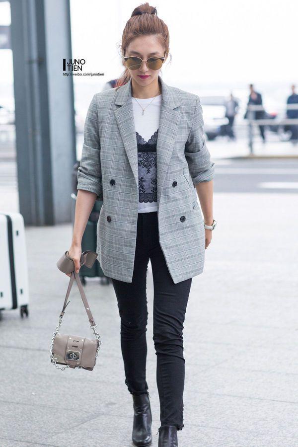 2018年这几款西装外套穿上不冷?格纹、丝绒、廓形款…
