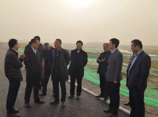 宋亚森调研沣东城建 · 沣河综合治理项目