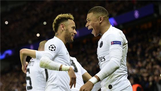 欧冠-内马尔、贝尔纳特破门巴黎2:1胜利物浦