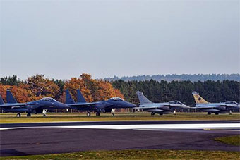 美国空军领衔 北约3国携40架军机联合训练