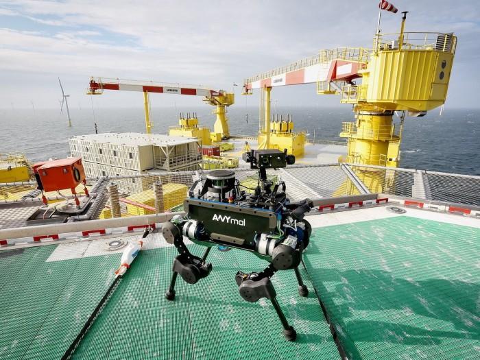 ANYmal四足机器人亮相 可在偏远海上平台进行巡视