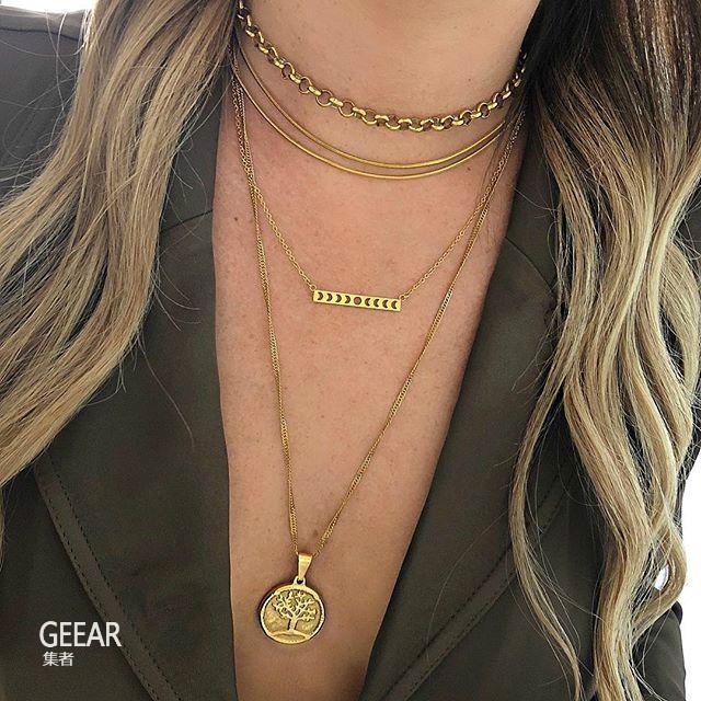 项链也流行多层次穿戴法! 记住这5个重点让项链提升美感!