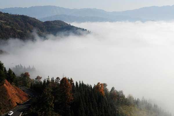贵州从江现云海美景