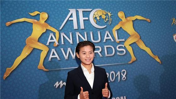 王霜当选亚洲足球小姐