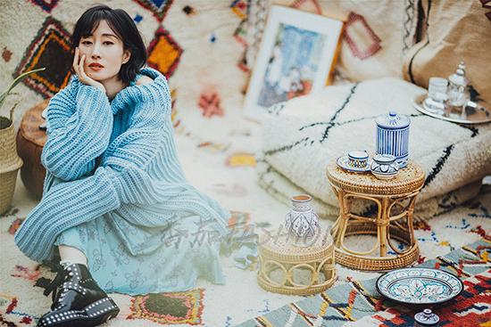 刘敏涛曝时尚大片 与摩洛哥风情的完美碰撞