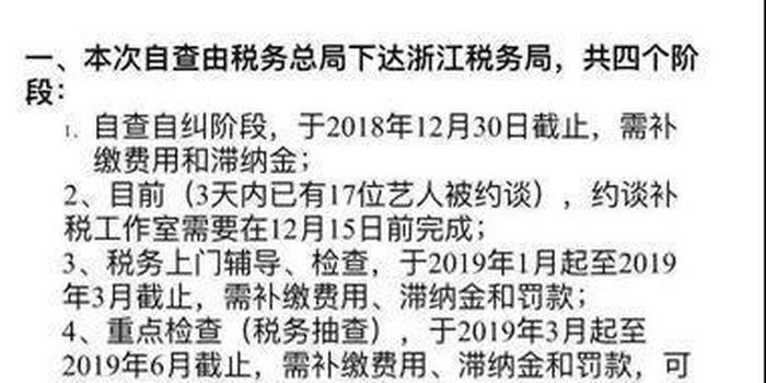 影视工作室接补税通知 浙江已有17名艺人被约谈