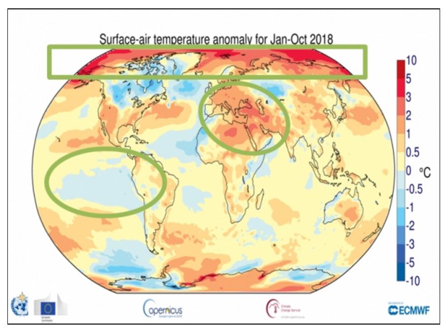 世界气象组织:2018年将是史上第四高温年份