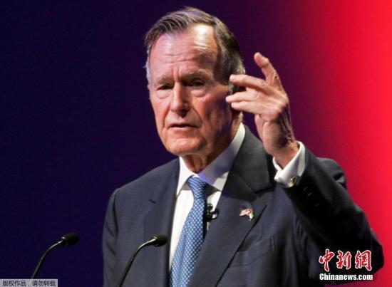 """美""""总统团""""哀悼老布什 包括特朗普奥巴马克林顿等"""