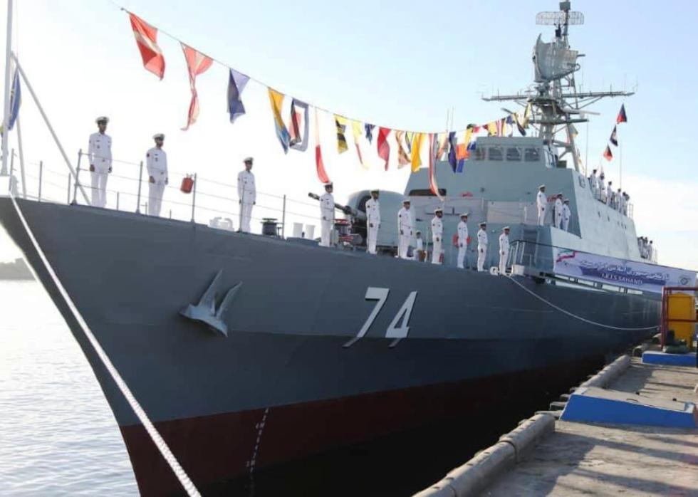 伊朗国产隐身驱逐舰服役 或派往美后院执行任务