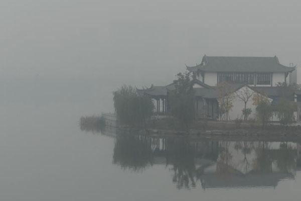 大雾笼罩浙江绍兴