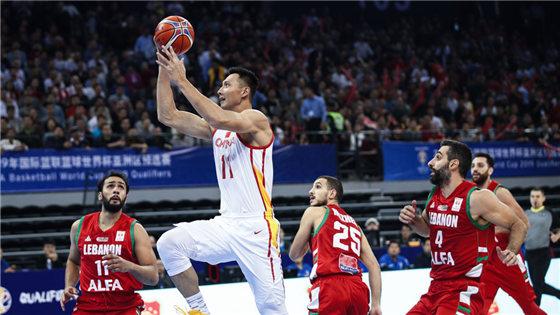 世预赛:中国男篮72-52黎巴嫩男篮