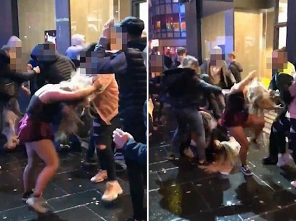 苏格兰爆发女子群殴事件 一人头部遭踩踏