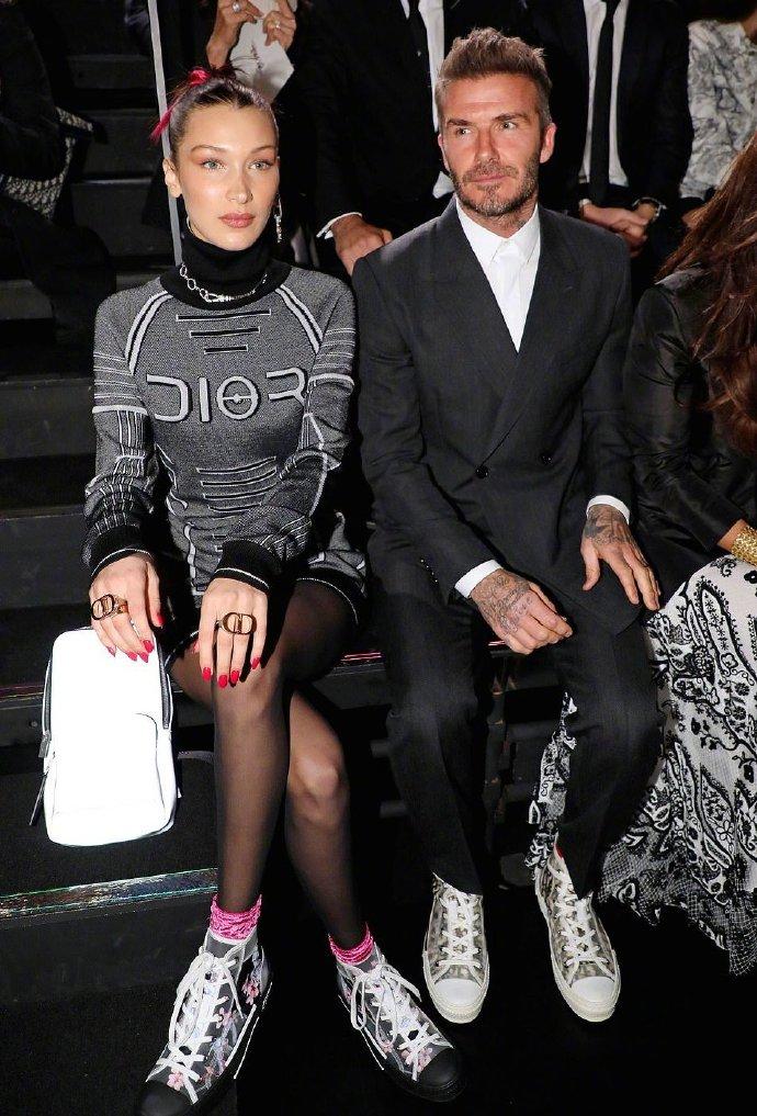 Dior 迪奥2019早秋男装系列发布 贝克汉姆、Kate Moss 、Bella Hadid亮相