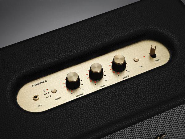 可经过Marshall Bluetooth APP或音箱顶部面板的指针式旋钮调节出你想要的声音