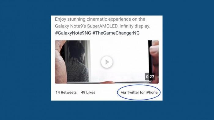 又闹乌龙:三星用iPhone发布Note 9宣传广告