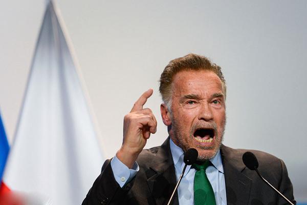 施瓦辛格出席联合国气候变化大会 激情咆哮演讲