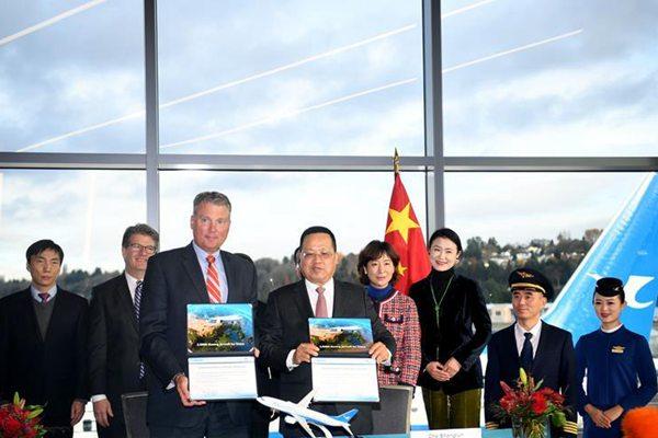 波音公司向中国交付第2000架飞机