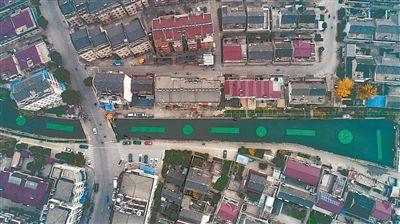 """扬州市江都区""""黑水河""""变""""绿飘带"""""""