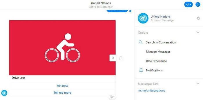 联合国推出ActNow聊天机器人:宣传气候变化