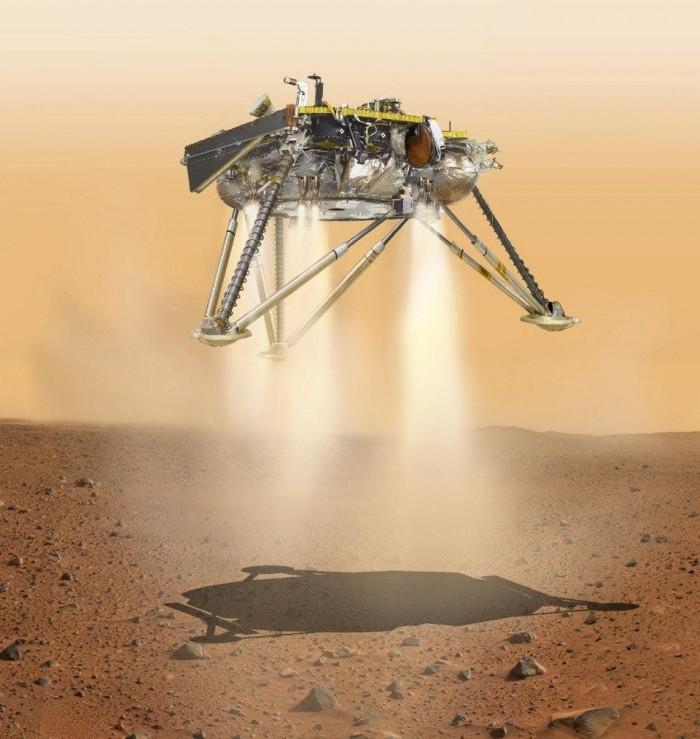 """""""洞察号""""火星登陆首日创下新发电纪录"""
