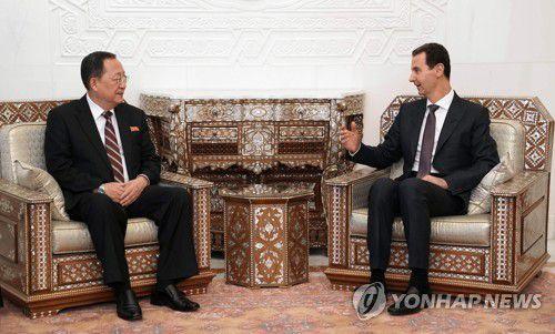 给金正恩传口信!朝鲜外相访叙利亚 与巴沙尔会谈