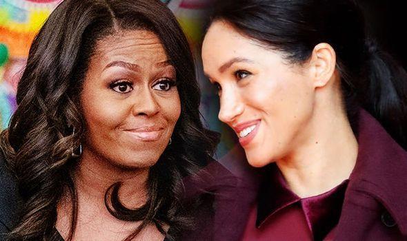 奥巴马夫人现身伦敦宣传新书 梅根王妃前去