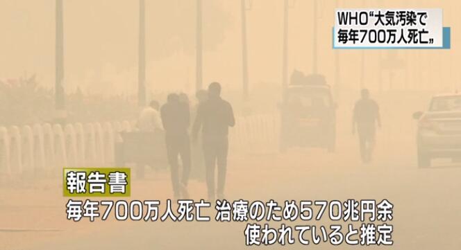 大气污染每年造成700万人死亡 WHO呼吁减少化石燃料