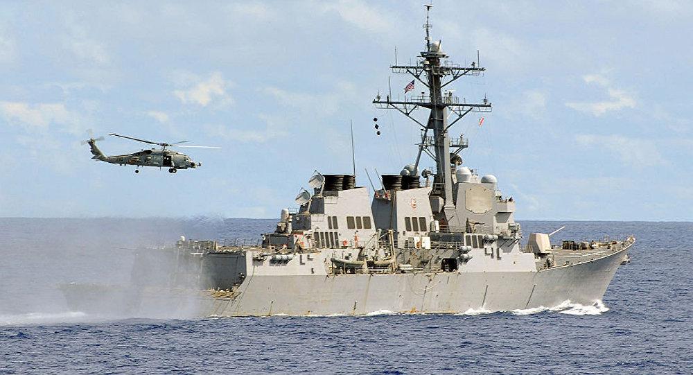俄媒:美军宙斯盾舰从俄太平洋舰队基地附近驶过