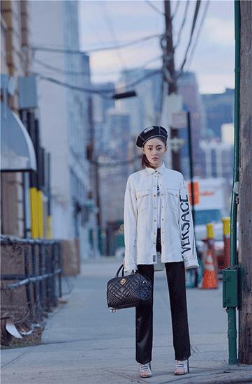 张天爱纽约街头写真曝光 演绎街头酷girl