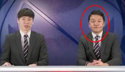 如此淡定,韩国解说员镜头前边流鼻血边主持节目 吓坏搭档
