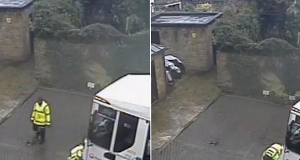 英垃圾回收工开车撞断居民门前停车柱遭投诉