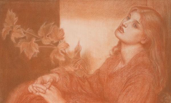 一幅前拉斐尔派画家素描首次公开,曾在二手书店被意外淘得