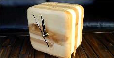 手工制作木质时钟