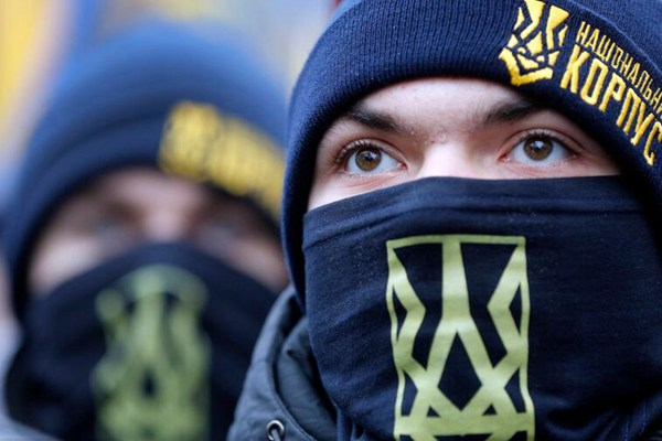 乌克兰民族主义者集会抗议 呼吁政府与俄断交