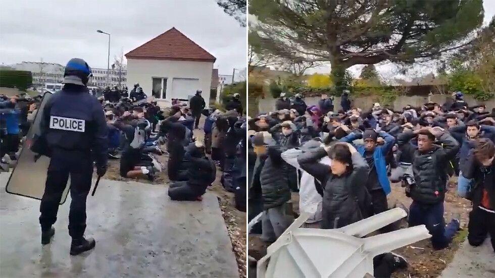 """法教育部长:逮捕学生场面""""令人震惊"""",法国处于""""异常暴力""""中"""
