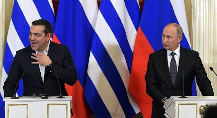 希腊总理向普京要领带做礼物 普京回应:同意,照办