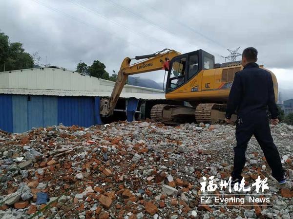 晋安城管拆除新店4处新增违建 拆违面积共计750平方米