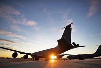 美国国民警卫队空军部队展示KC135R加油机
