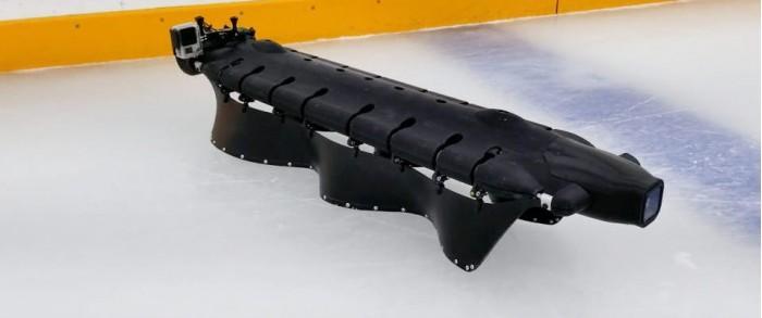 Velox机器人能利用波形鳍状物在冰面上穿梭自如