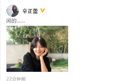 辛芷蕾发文疑似回应与翟天临传绯闻:闲的