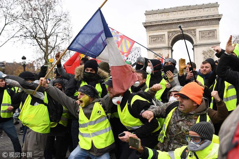 """法国""""黄背心""""抗议者中混进了这群人 难怪这么乱"""