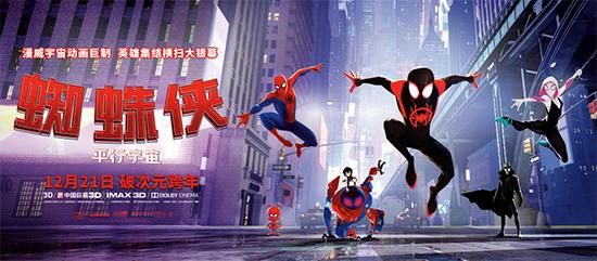 超英动画《蜘蛛侠:平行宇宙》终极预告炫酷贺岁