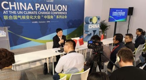 中国生态环境部气候司司长、中国代表团副团长李高。中新社 陈溯/摄