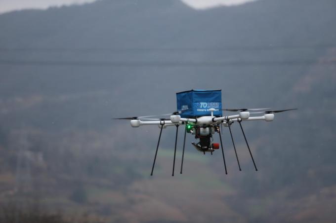 中通最新油电混合无人机在陕西完成首飞