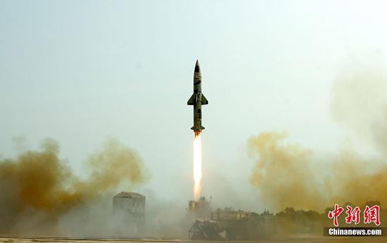 台媒:印度猛火-5号洲际导弹第7度试射,射程可涵盖中国