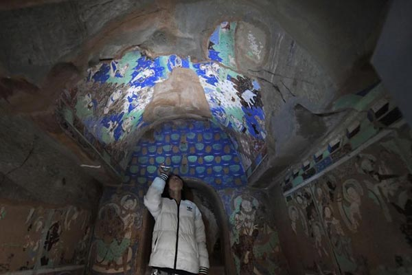克孜尔石窟壁画及洞窟复原影像兰州展出