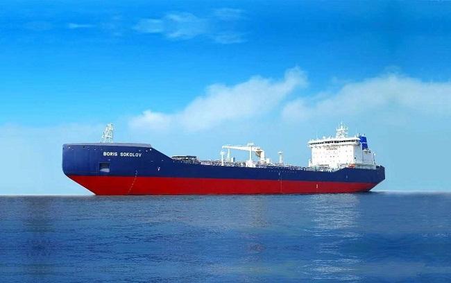 """极地凝析油船""""BORIS SOKOLOV""""号广州顺利下水"""